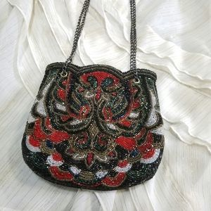 Vintage Beaded Art Deco Chain Small Shoulder Bag